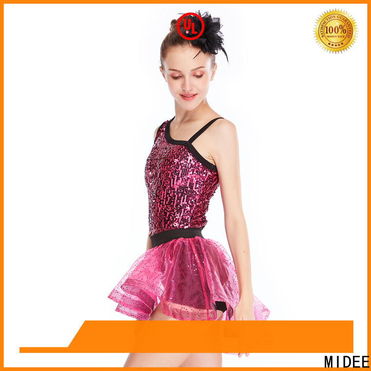 MIDEE fringed jazz costumes dance solo customization show