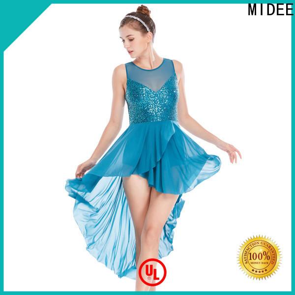 customization 2 piece lyrical dance costumes asymmetric custom competition