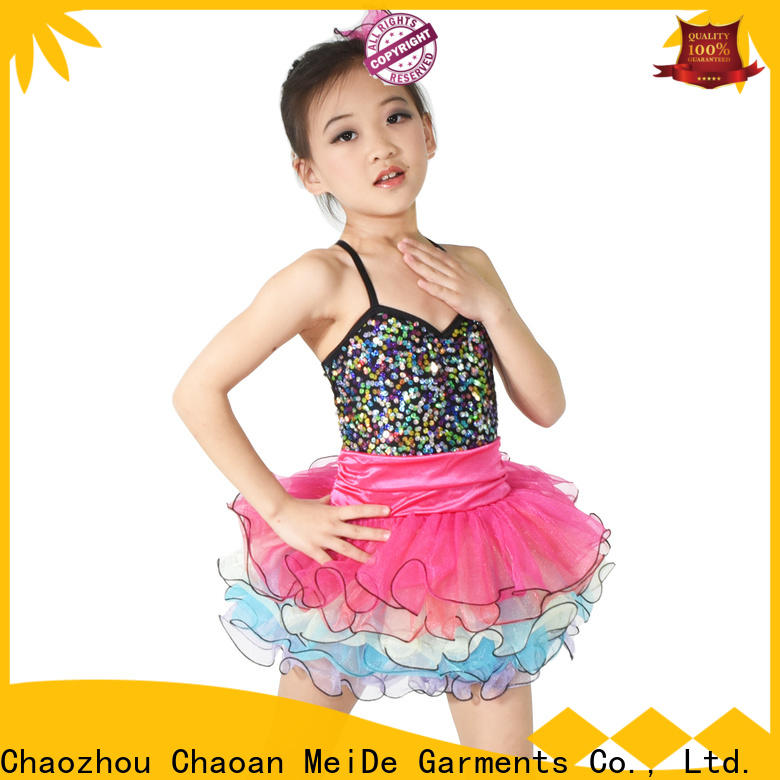 MIDEE rainbow dance costumes for kids customization Stage