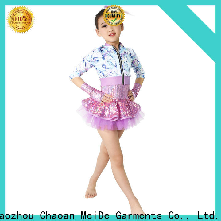 MIDEE solo girls dance costumes oem competition