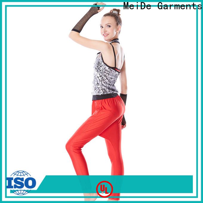 MIDEE tie jazz dance outfits for wholesale Stage