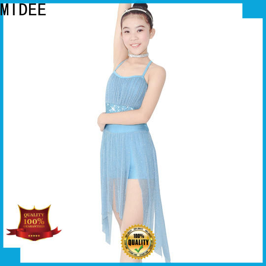MIDEE customization lyrical dance costumes for competition custom stage