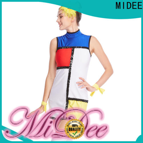 MIDEE fringed jazz dance costumes for competition manufacturer show