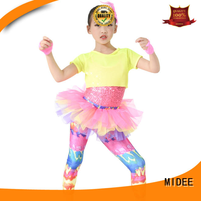 good safety children's dance costumes silver factory price show