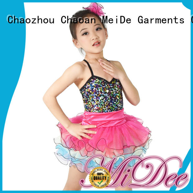 MIDEE sequins girls dance costumes customization Stage