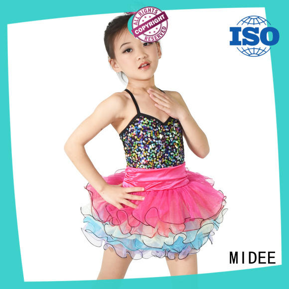 MIDEE girls dance costumes dress customization show