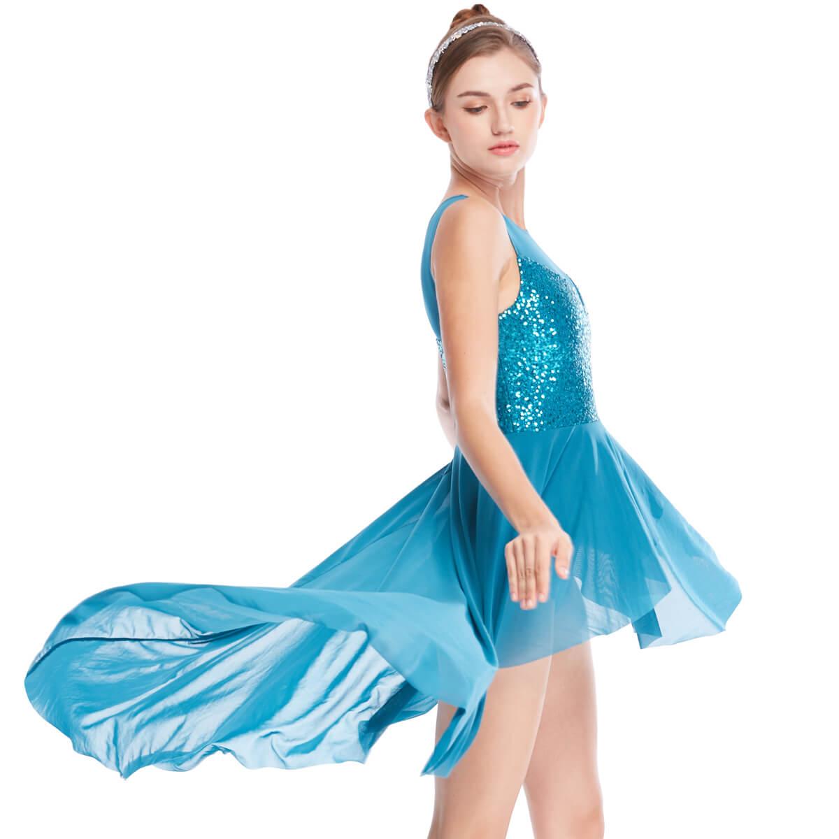 OEM lyrical skirt pieces dance clothes performance-2