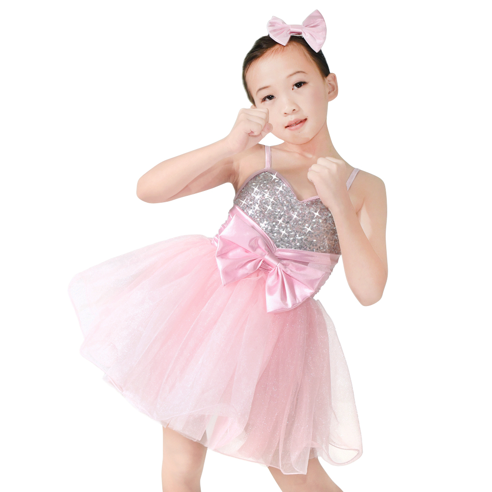 reasonable structure toddler dance costumes pink factory price dancer-1