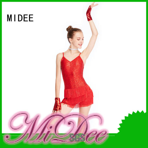 top jazz dance dress neck show MIDEE