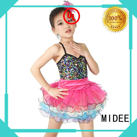Stunning Rainbow Tutu Dress Ballet Costume Dance Performance Wear for Girls