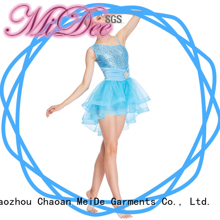 MIDEE highlow girls ballet clothes factory price dancer