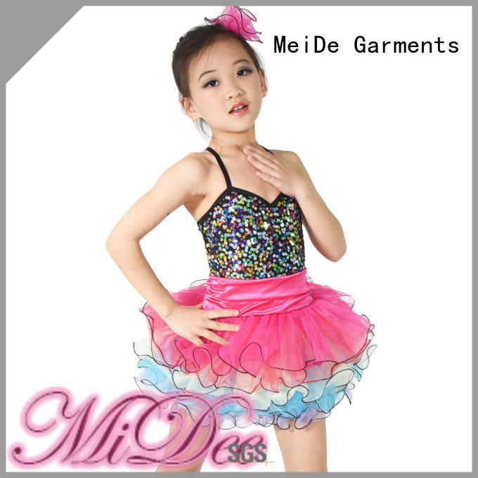 MIDEE foiled dance costumes for girls factory price dancer