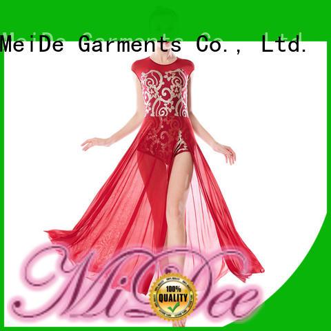 OEM lyrical costumes for dance solo top custom performance