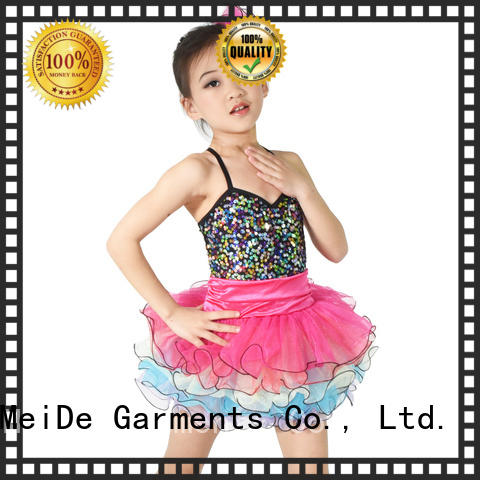 dress dance costumes for kids rainbow show MIDEE