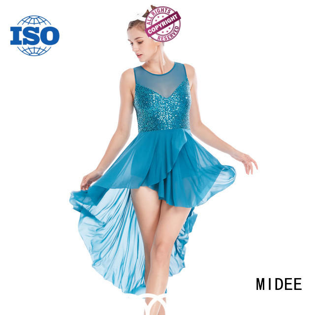 MIDEE tank lyrical dance costumes for competition custom competition