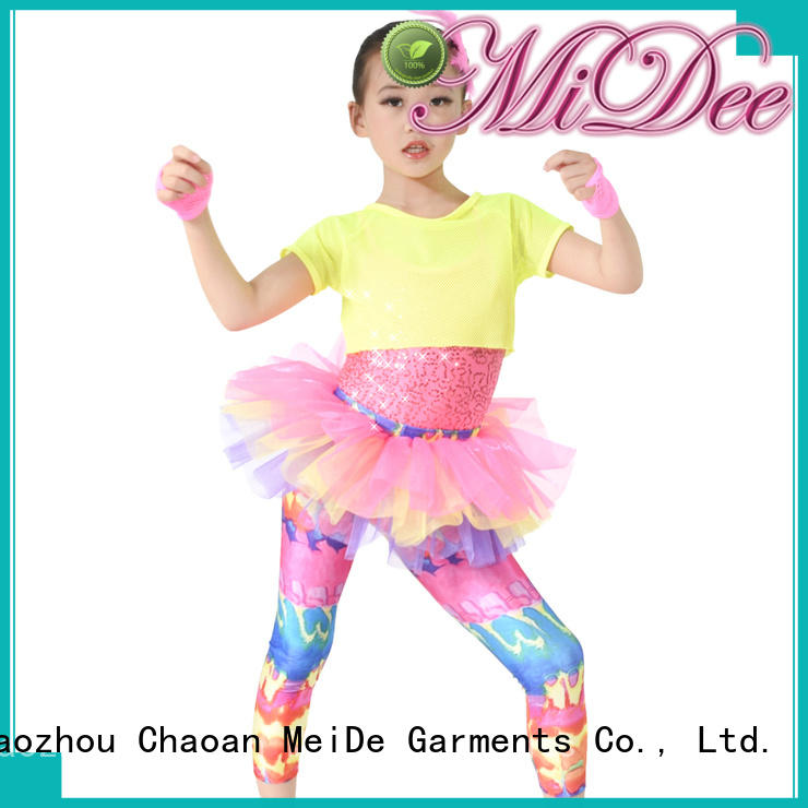 MIDEE good safety rainbow dance costumes Stage