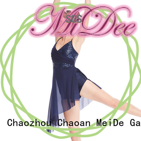 MIDEE round girls lyrical dance costumes dance clothes competition