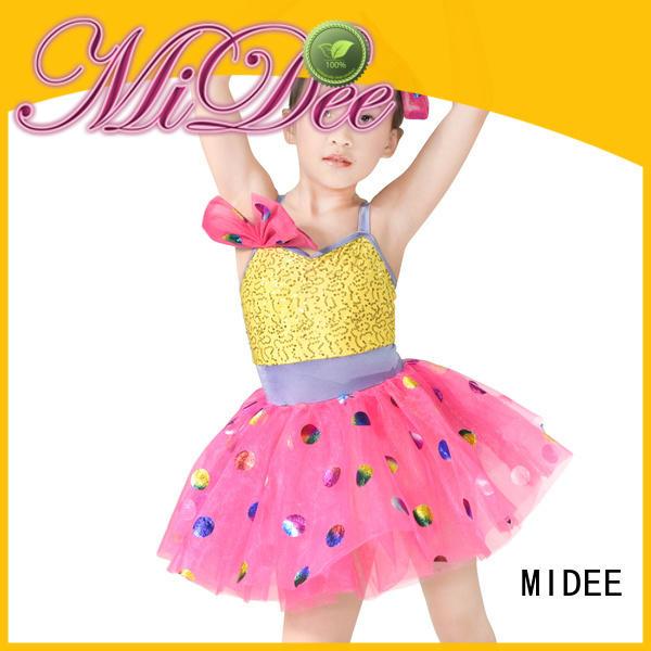 MIDEE sequins dance costumes girls oem performance