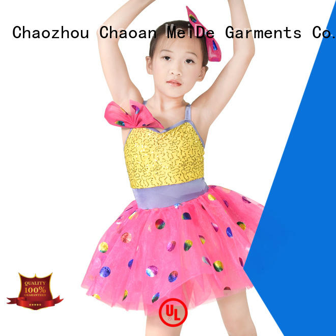 MIDEE colorful dance costumes kids oem performance