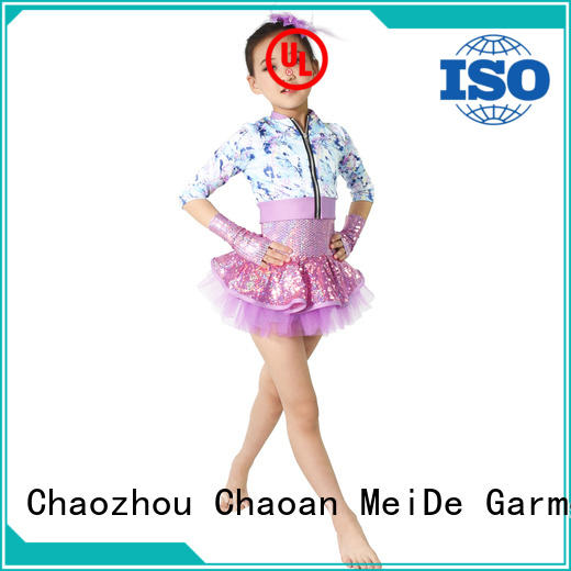 MIDEE good safety school girl dance costumes oem show