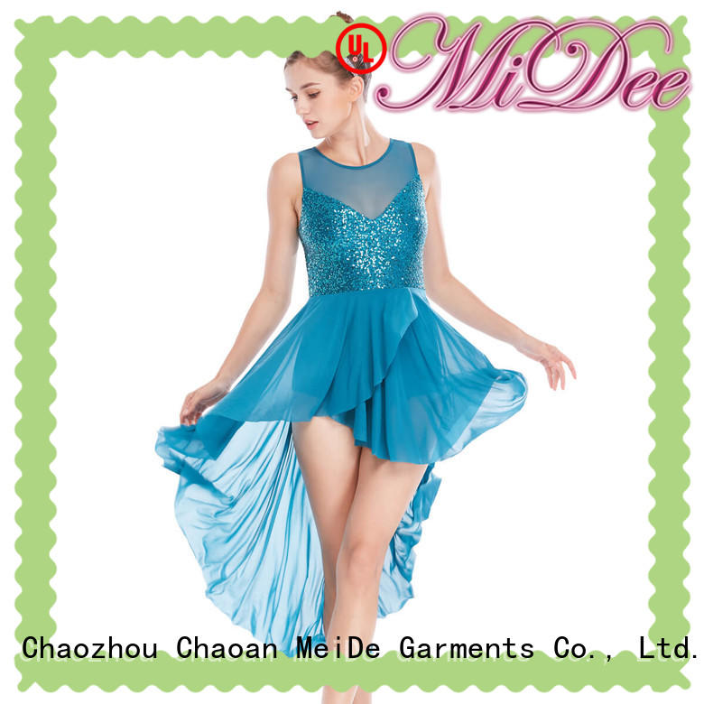 OEM 2 piece lyrical dance costumes custom stage