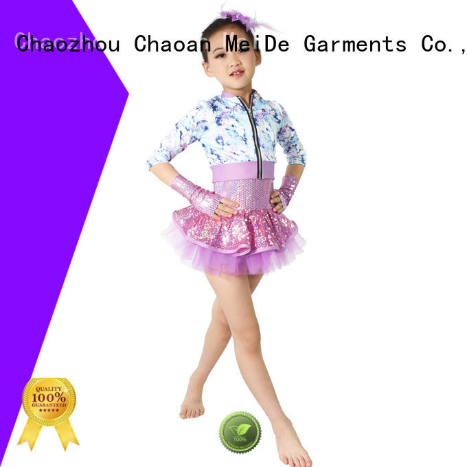 MIDEE good safety childrens dance costumes solo performance