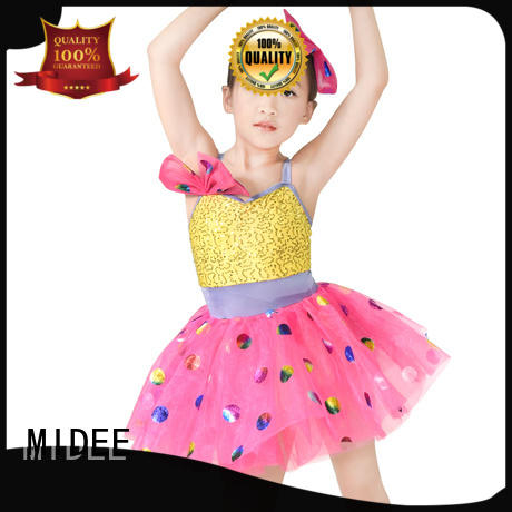 MIDEE good safety bodysuit dance costume skirt performance