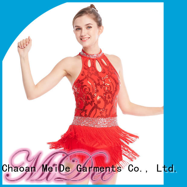 tie jazz dance costumes for women sequined Stage MIDEE