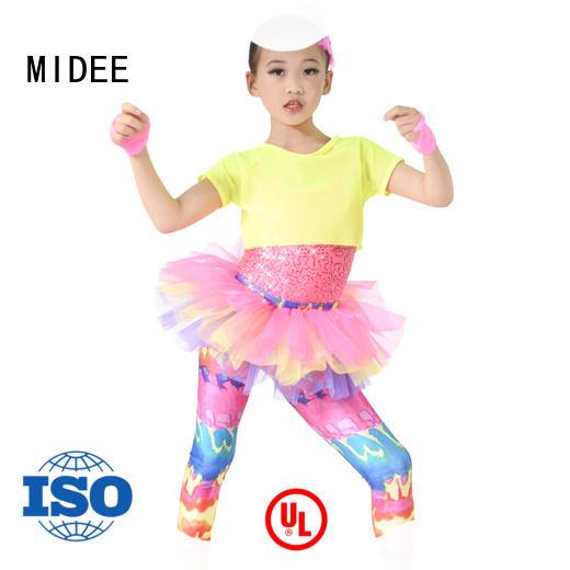 MIDEE silver dance costumes dress performance