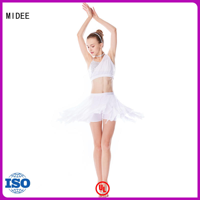 customization 2 piece lyrical dance costumes spiral dance clothes competition