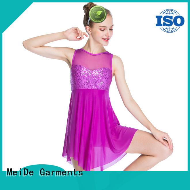 MIDEE adjustable girls ballet outfit velvet dance school
