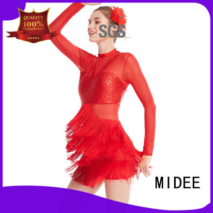 MIDEE fringed jazz solo costumes for wholesale show
