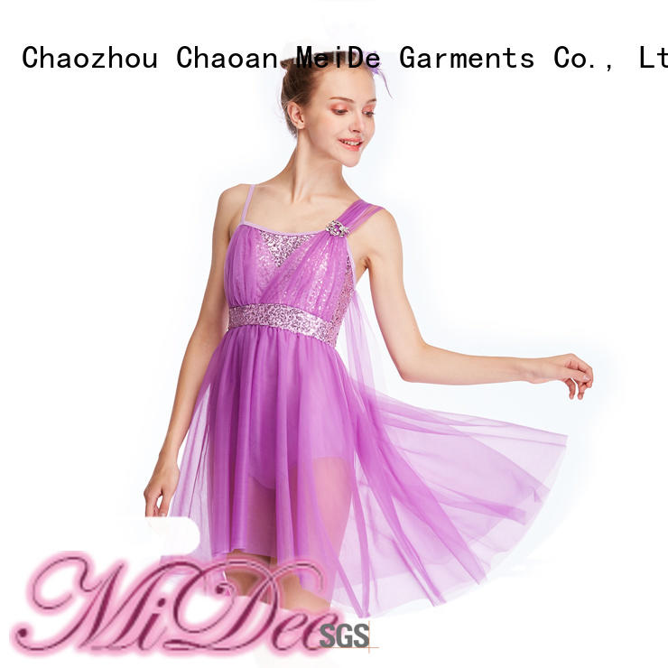 MIDEE oneshoulder adult dance clothes dance clothes performance