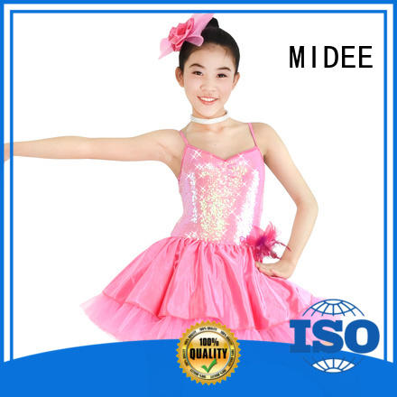 MIDEE anti-wear girls ballet outfit waistband show