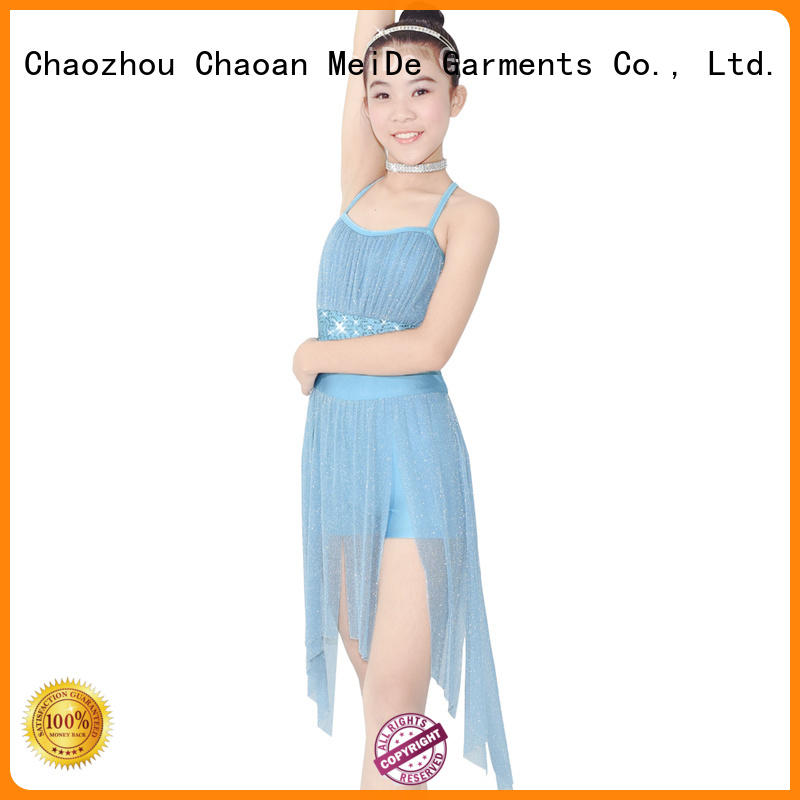 customization lyrical contemporary costumes sequins dance clothes performance