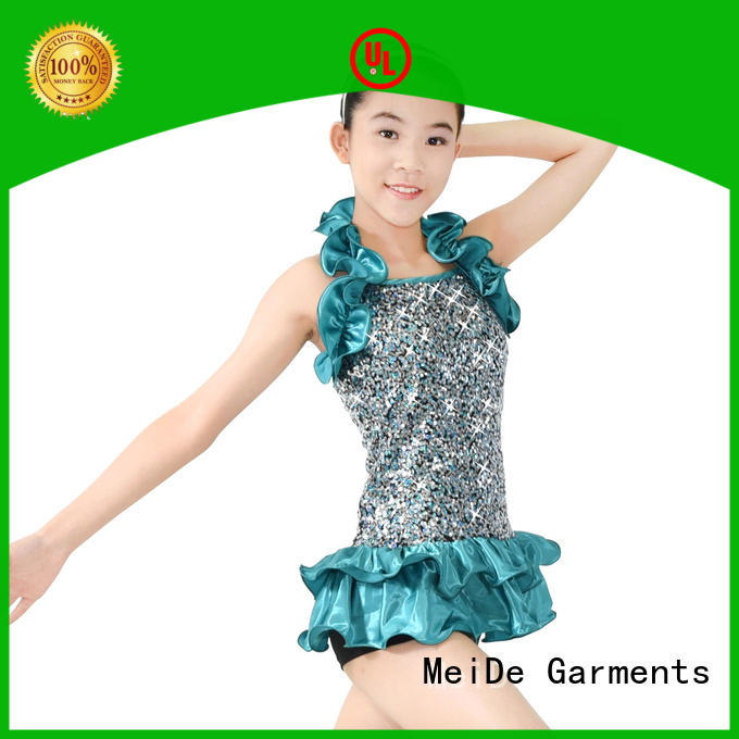 MIDEE fringed jazz dance dress customization Stage