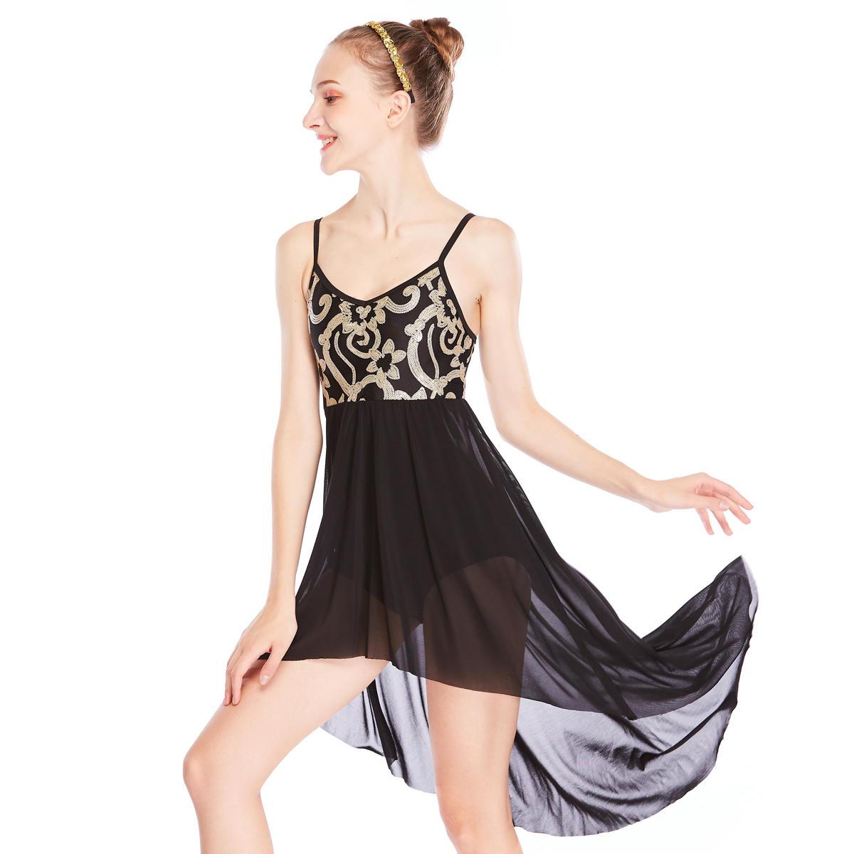 MiDee Sequins Elegant Dance Costumes Modern Lyrical Fairy  Ballet