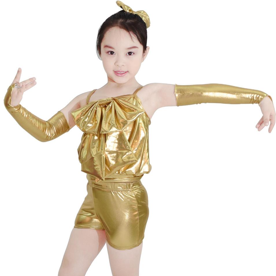 MiDee Lovely Glittery Lycra Children Hip Hop Dance Costumes