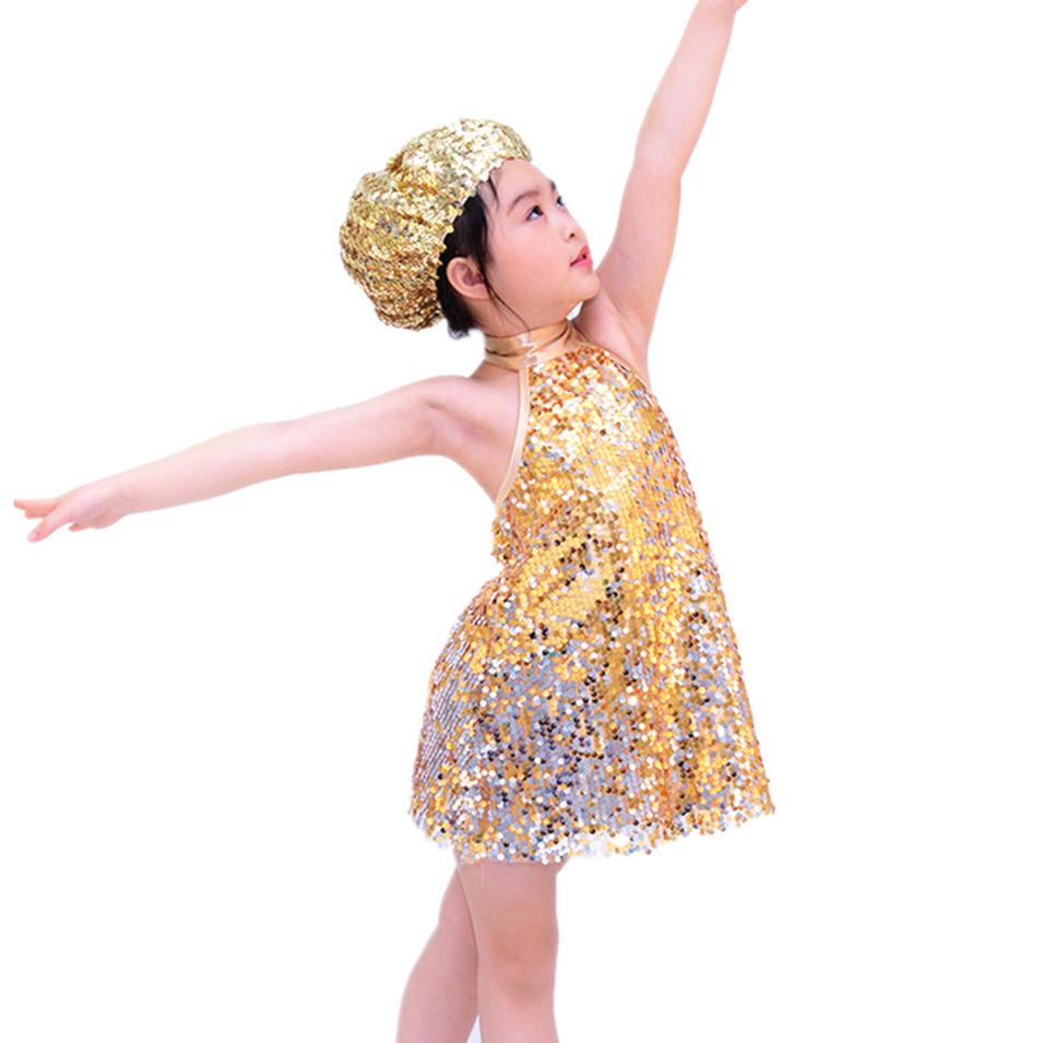 MiDee  SequinsJazz & Tap Dance Dress Latin Dance Costume