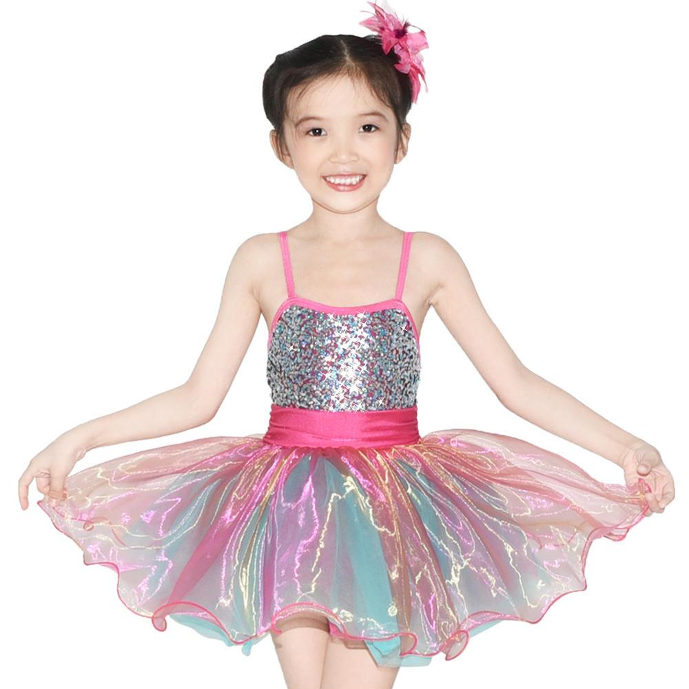 MiDee Glitter Ballet Dance Costumes Party Dress Children Dance Costumes