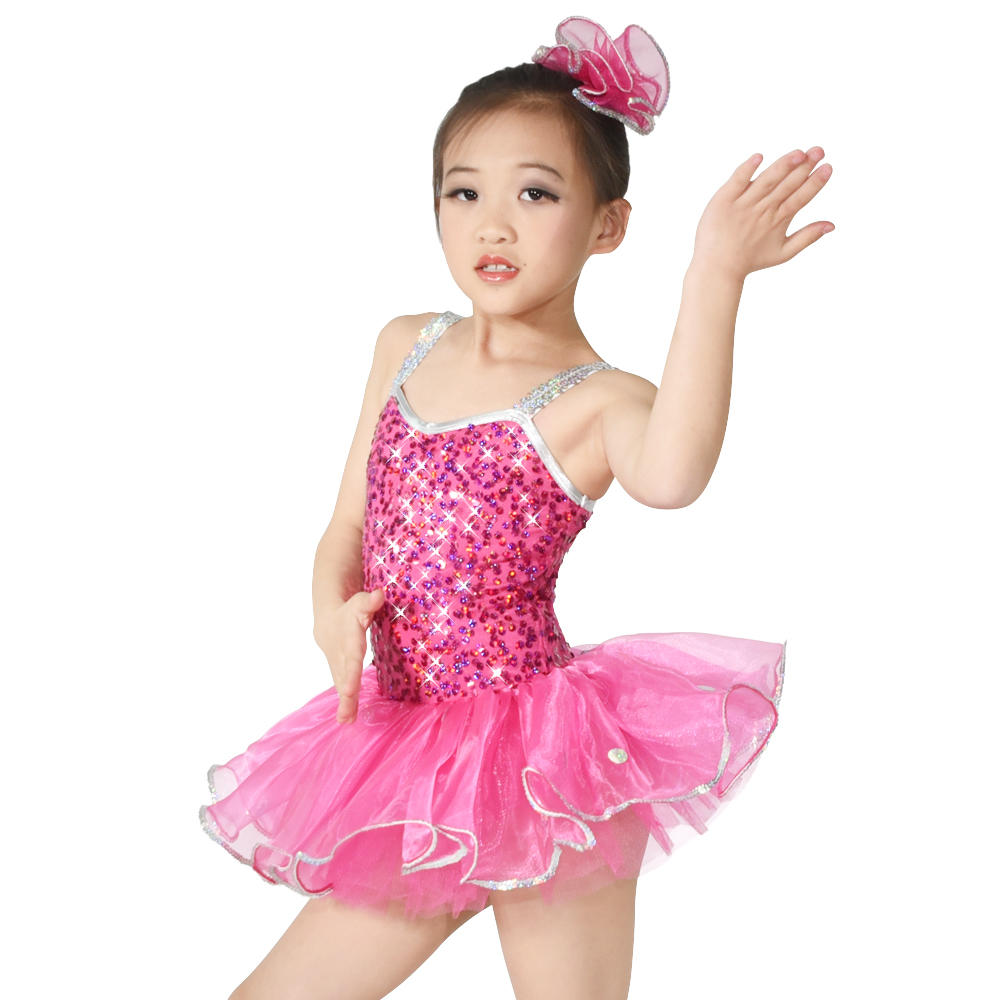 MiDee Sequin Girls Ballerina Costumes Dancing Dress Ballet Tutu Swan Lake Costume