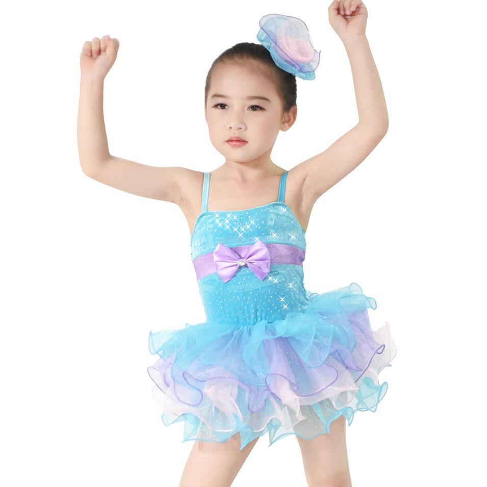 MiDee Leotard Ballet Tutu Party Dress Tutu Children Ballroom Dance Dress