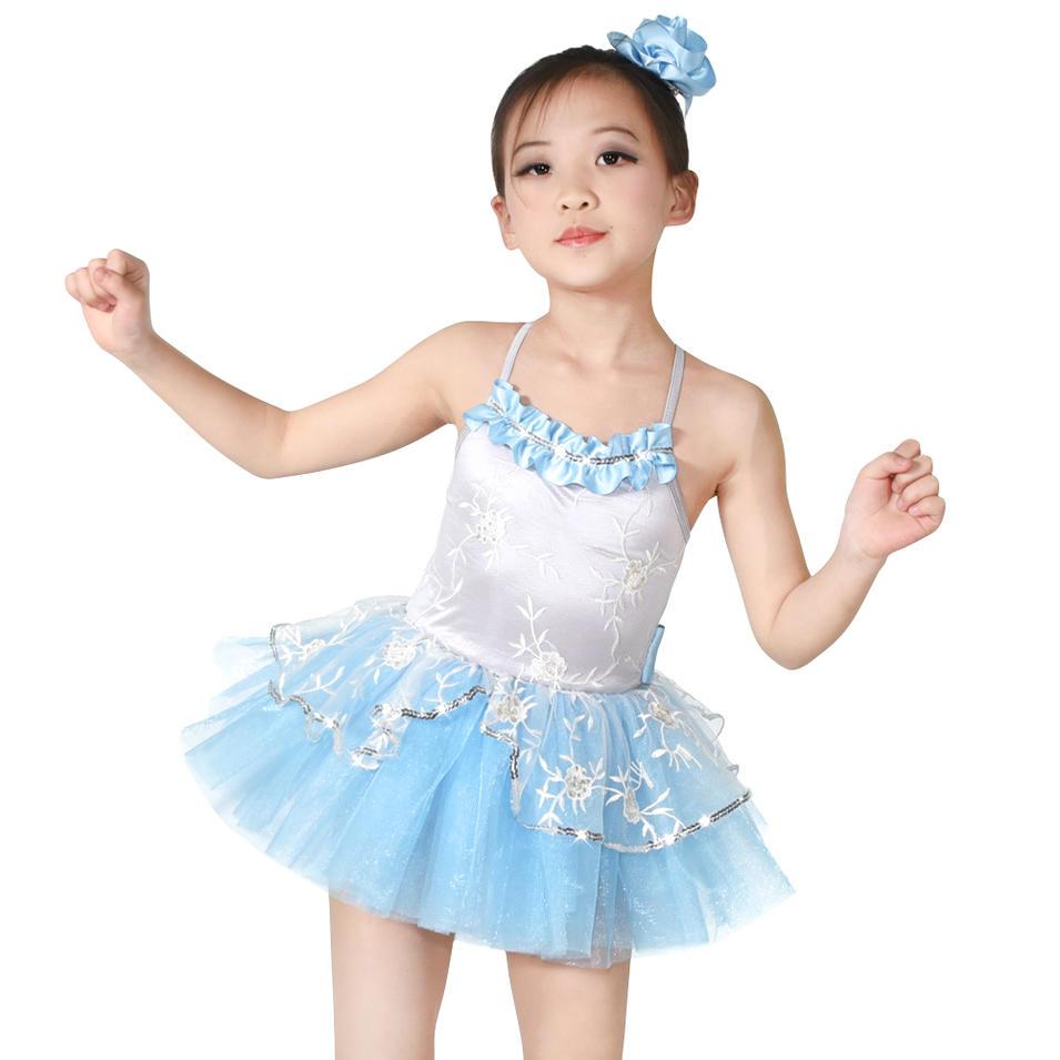 Dance Costumes Ballet Tutus Lyrical Dress for Girls Kids Party Dresses Flower Girls Dresses