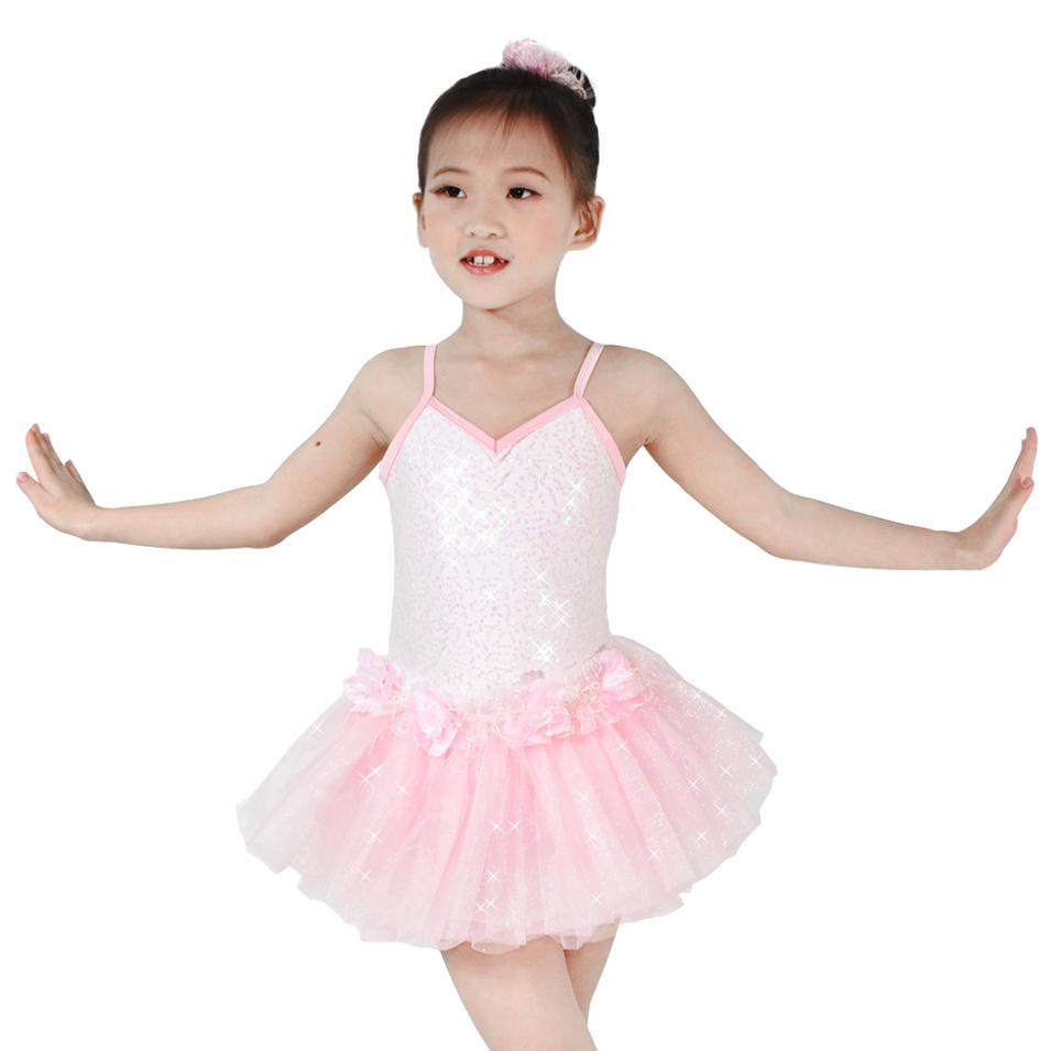 MiDee Dance Costume Ballet Classical Pink Tutu Party Dance Dresses