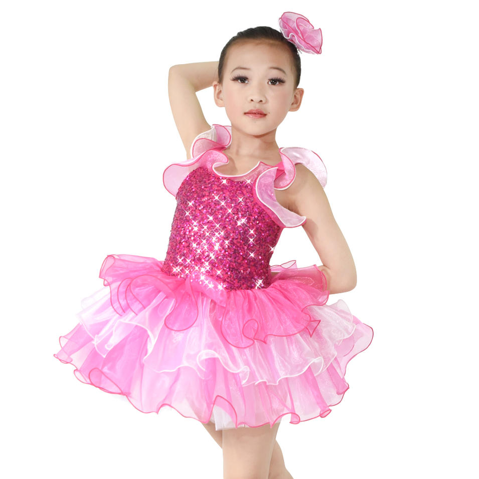 MiDee Camisole Sequined Professional Ballet Tutu For Little Girls Dance Wear