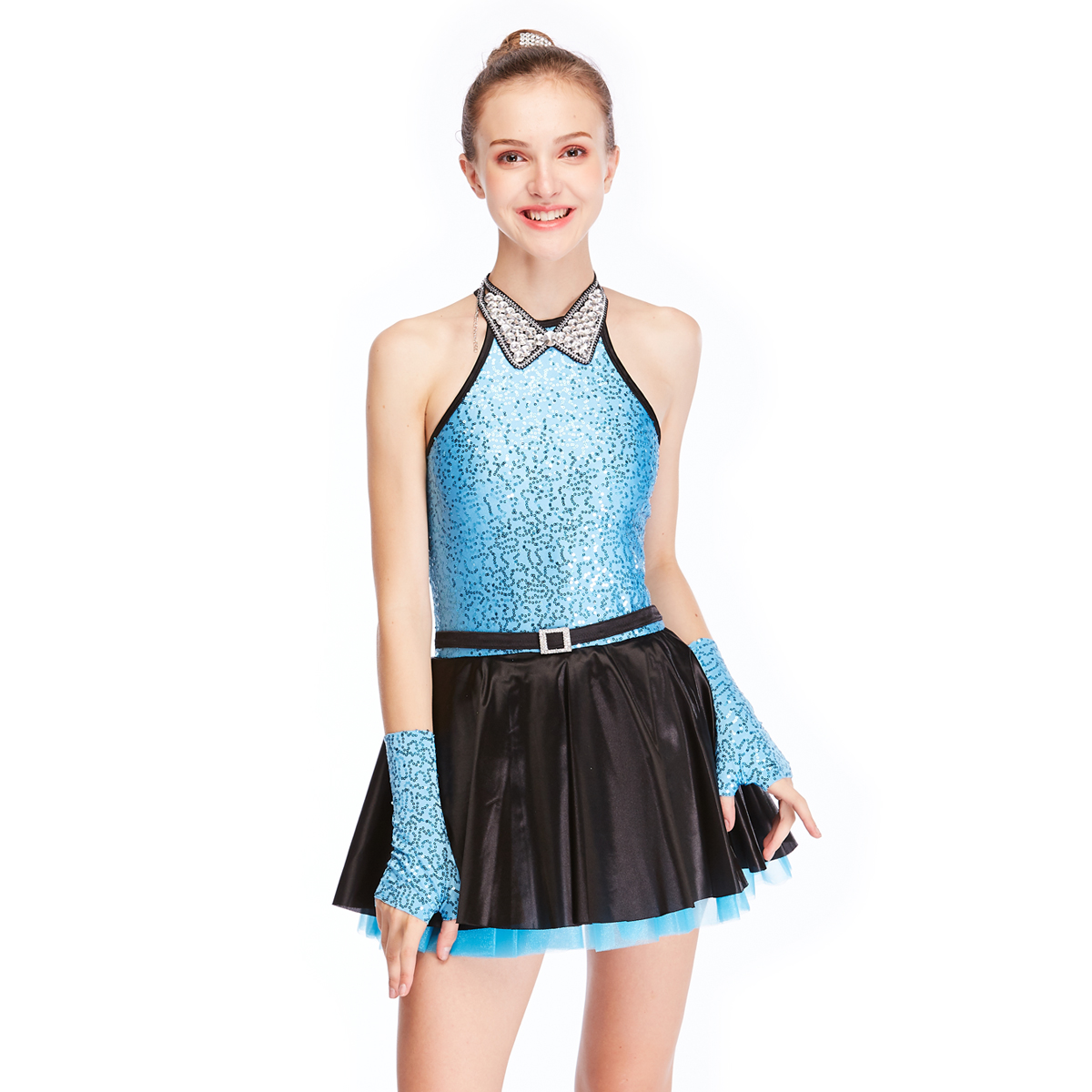 MIDEE sequins jazz costumes for competition for wholesale performance-2