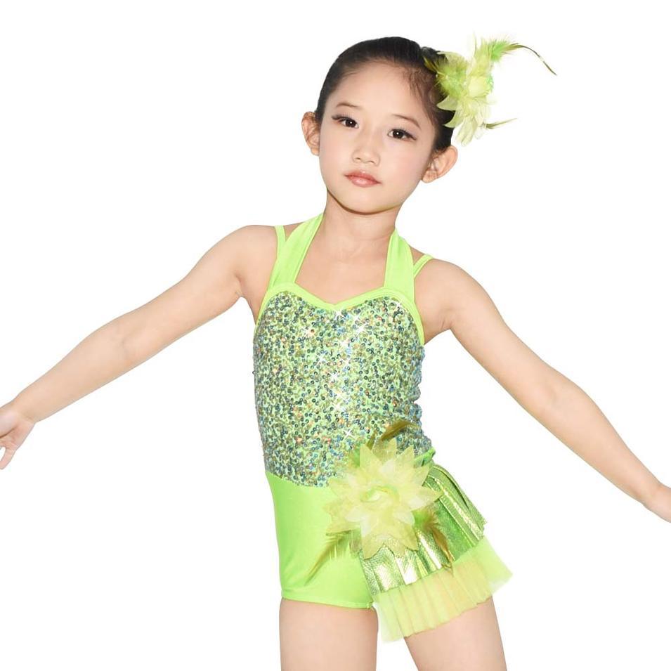 MiDee Fuchsia Halter Sequin Jazz Dance Costume