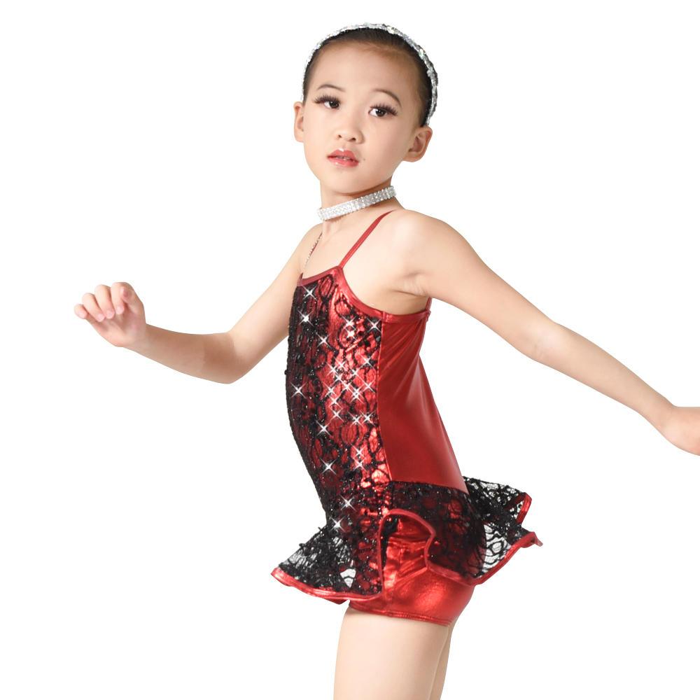 MiDee Jazz Tap Latin Dance Party Dress Costume For Children Girl