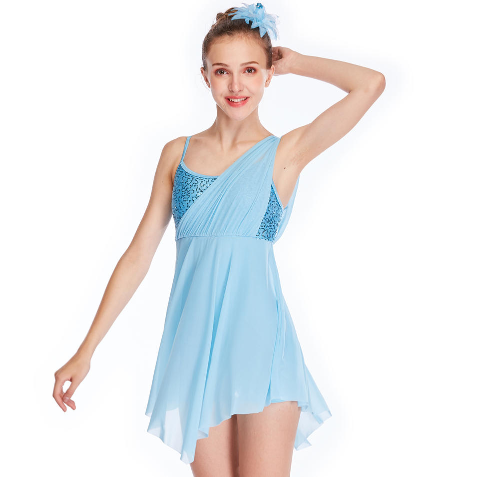 MiDee Lyrical Dance Costume Dress Stage Competition Performance Clothes Wear
