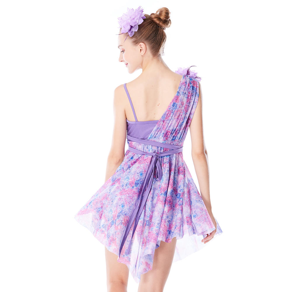 MiDee Lyrical Performance Wear Skating Dress Dancer Clothes